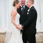 Officiant and happy couple Allan House Wedding