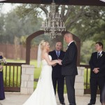 Wedding at Gabriel Springs bride groom and Austin officiant