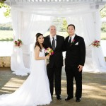 Austin Officiant and Couple at Avery Ranch