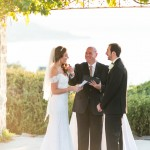 Austin wedding officiant at vintage villas