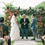 Vista West Ranch Wedding Couple and Austin Minister