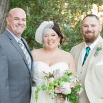 Austin officiant and Happy couple married at house on the hill