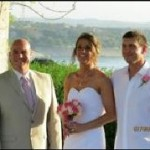 Austin Officiant Vintage Villas bride and groom