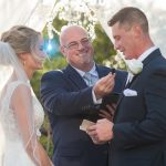 Couple reading vows at Austin Texas wedding