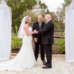 Austin Wedding Officiant with couple at altar