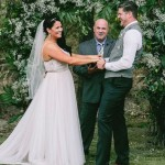 Austin wedding officiant with bride and groom