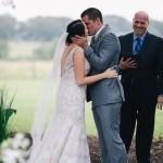 Austin Officiant with Bride and Groom first kiss