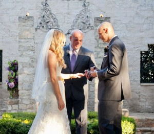 Austin wedding officiant ring ceremony at Vista on seward hill
