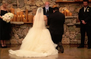 prayer at Austin wedding at Wild Onion Ranch