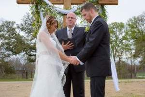 Austin Wedding Officiant offering blessing