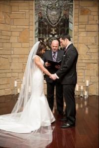 Austin officiant Stephen Simmons offering wedding prayer