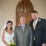 Chapel Dulcinea Austin wedding ceremony officiant and couple
