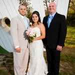 Austin wedding officiant bride and groom at Kindred Oaks