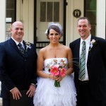 Lago Vista outdoor Wedding Ceremony, officiant, bride and groom
