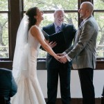 Parkside Restaurant Wedding ceremony, Austin Area Minister and the couple