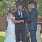 Prayer by officiant for couple