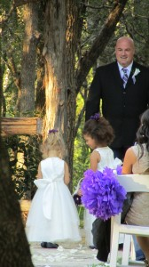 Austin Wedding Officiant and flower girls