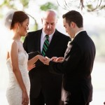 Austin officiant bride and groom ring ceremony