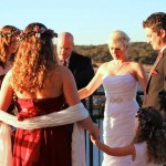 Austin wedding officiant prays for couple